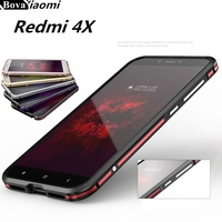 For Fundas Xiaomi Redmi 4X Bumper Case Luxury Deluxe Ultra Thin Protective Aluminum Bumper For Xiaomi