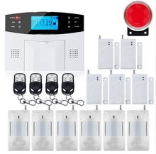 SmartYIBA GSM Alarm Support 2G SIM Audio Calling SMS GPRS Alarm System Security Home Smart House Voice Prompt Residential Alarm