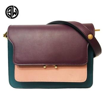Luxury Handbags Women Bags Designer Quality Leather Shoulder Bag for Women's Colorful Retro Crossbody Messenger Bag louis gg bag