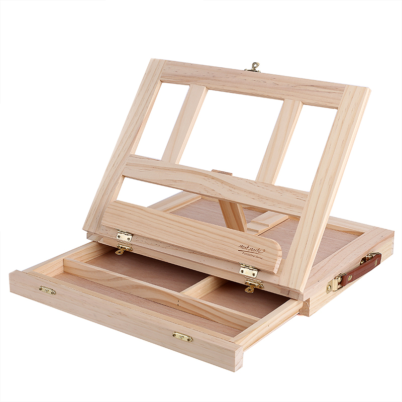 Multifunction Painting Easel Artist Desk Easel Portable Miniature Desk Light Weight Folding Easel For Storage Or During Trips