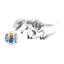 Original Jurassic World Tyrannosaurus Building Blocks Jurrassic Park 4 Dinosaur Figures Bricks Toys Compatible with bricks