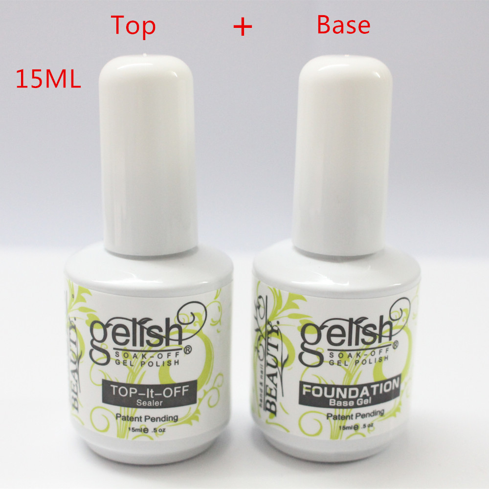 Top coat 15ml per gel per unghie Top Top off + Base Coat Foundation per Polish Gel UV