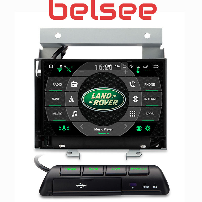 Belsee Android 8.0 Octa Core PX5 Auto 4K Autoradio GPS Navigation Car Radio Head Unit Screen for Land Rover Freelander II 2