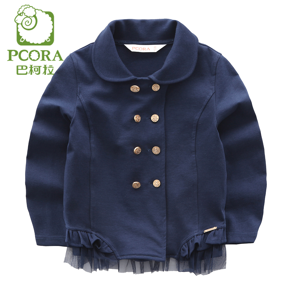 8cd839b28e1e PCORA Jacket for Girls Knitted Girls Jackets Navy Blue Girls Clothes ...