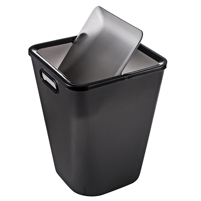 d43c3bb94 16L Portable Garbage Can Plastic Trash Can Wastebin with Lid Kitchen Waste  Bin Sitting Room Toilet