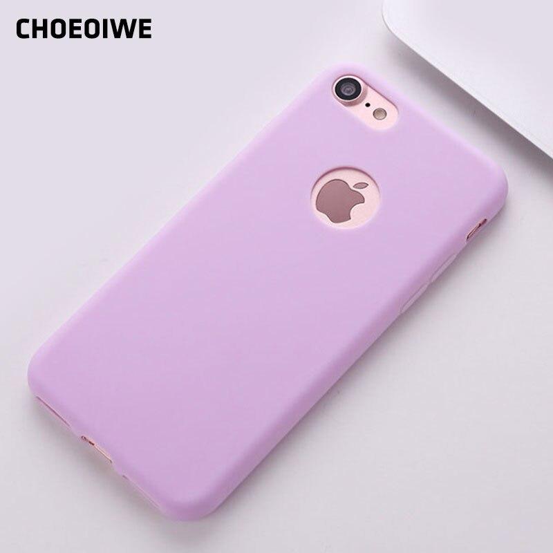 CHOEOIWE i6 Soft TPU pouzdra pro iPhone 6 6S 4,7palcový silikonové pouzdro Roztomilé bonbóny Barvy Růžová Mint Pouzdro Shell Cover Capa Fundas