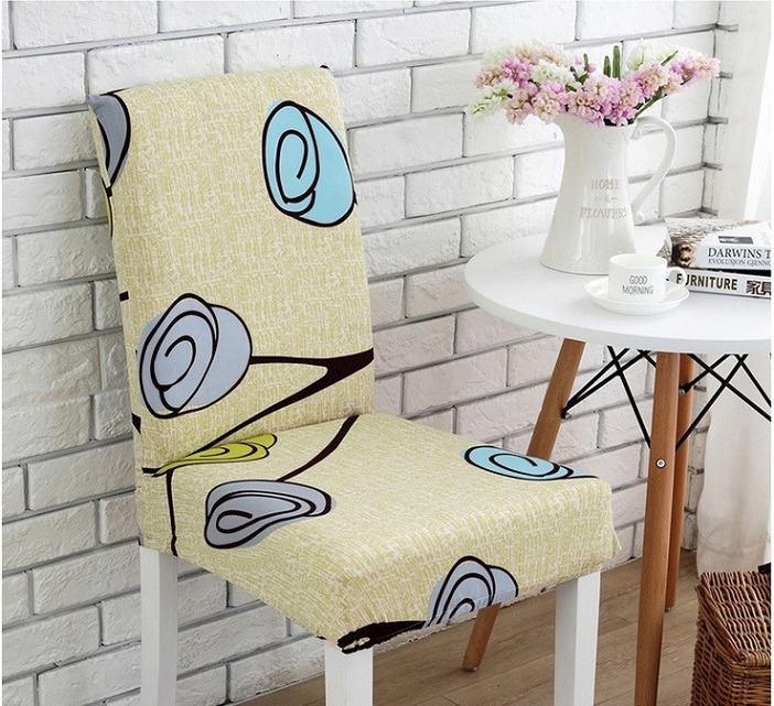 Dining Room Chair Protective Covers: Mylb Stripped Cross Pattern Chair Covers Spandex Dining