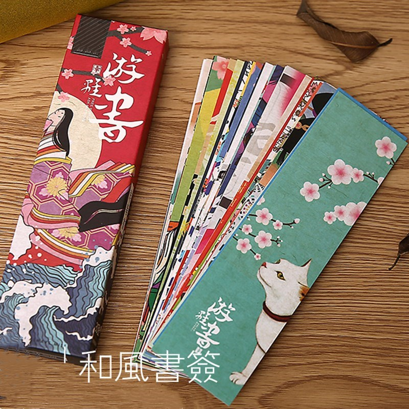 30pcs/lot Cute Paper Bookmark Vintage Japanese Style Book Marks For Kids Stationery Office School Supplie Gift