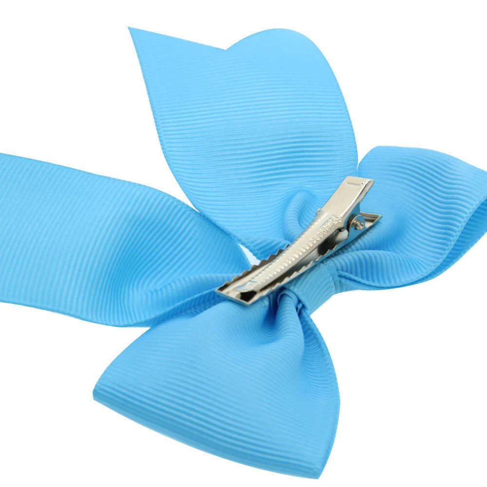 1 PCS Đầy Màu Sắc 9 CM May Mắn Clover Handmade Thiết Kế Sáng Tạo Tóc Bow Tốt Nhất Bên Ăn Mặc Kẹp Tóc cho Trẻ Em Gái DIY Clip Mũ Nón
