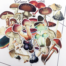 25pcs Hand Drawing Colorful Mushroom sticker dry glue Notebook Planner Scrapbooking