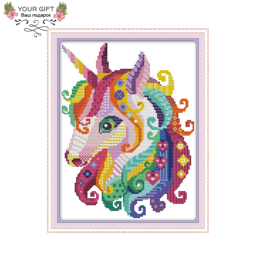 Cross-stitch Honest Horse Diy Home Decor Chinese Cross Stitch Embroidery Counted Chinese Cross Stitch Kit Animals Handmade Chinese Styles New Cheap With The Best Service