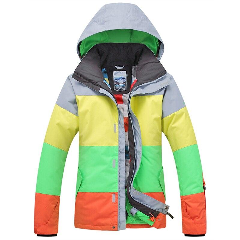 Prix pour Livraison gratuite Gsou Neige Homme Ski Porter Respirant et Coupe-Vent Imperméable Ski Veste Hommes D'hiver Sport combinaison de Ski Snowboard Costume