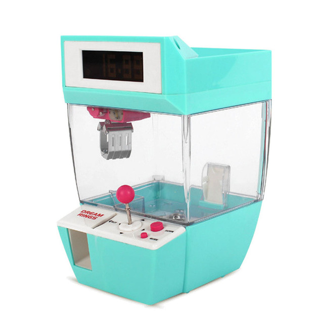 Catcher Alarm Clock Coin Operated Game Machine Crane Machine Candy Doll Grabber Claw Machine Arcade Machine Automatic Toy Kids