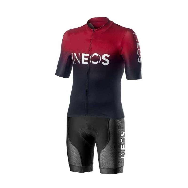 2019 pro team ineos red one piece cycling jersey skinsuits racing bodysuits MTB Ropa Ciclismo Bicycle