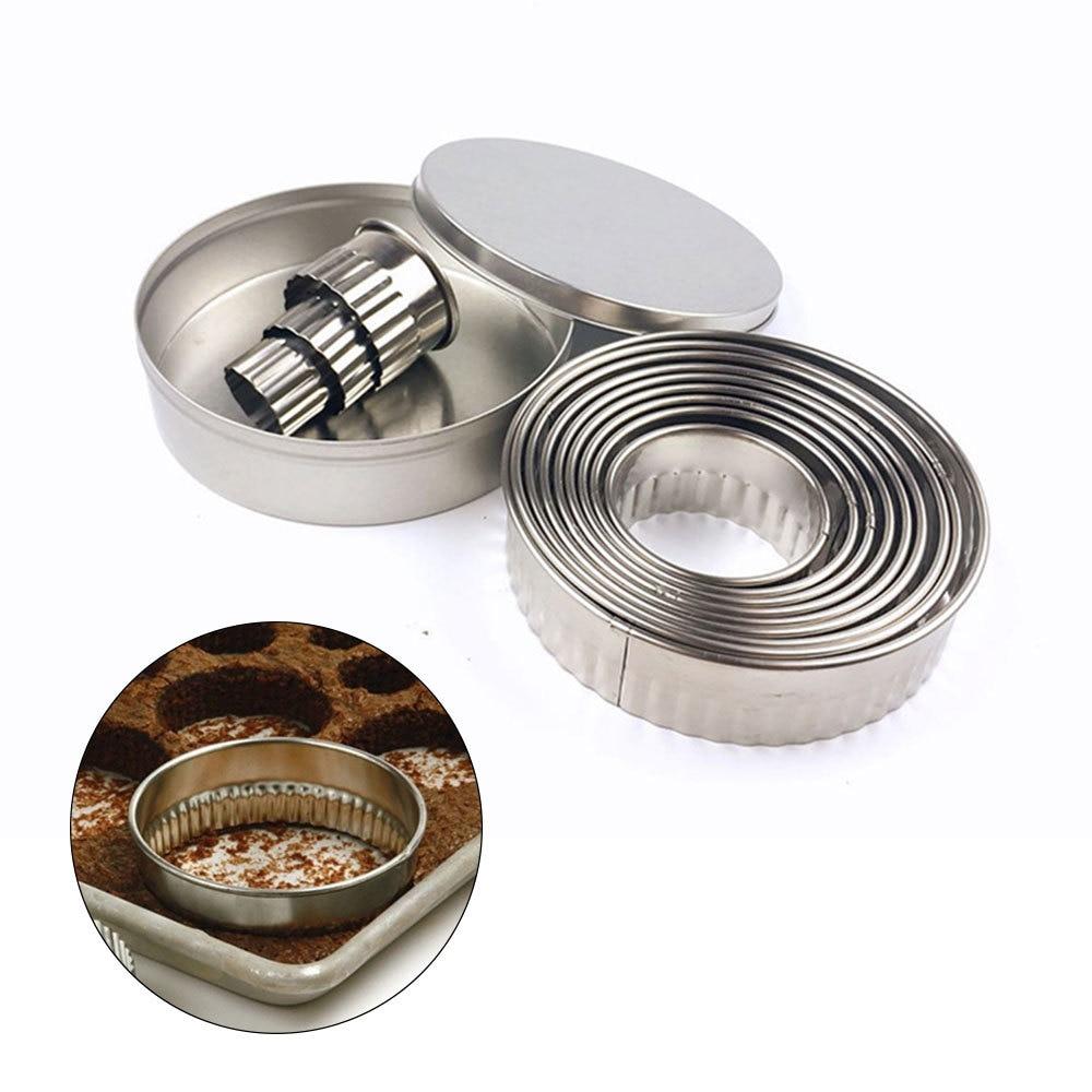 metal baking círculo anel moldes para fondant bolo diy