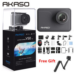 AKASO V50 pro 4K 20MP Wifi Action Camera Ultra HD with EIS 30m Underwater Waterproof Remote Sports Camcorder +Helmet Accessories