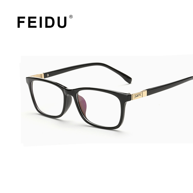 FEIDU 2016 New luxury Square Glasses Frame Women Men Eyewear Anti Blu ray Clear Lens Glasses Frame For Women Men Oculos 6 Color