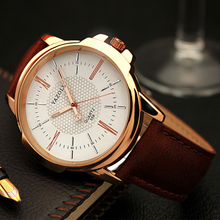 Luxury Famous Men Watches Business Leather Watch Male Clock Fashion Leisure Dress Quartz Watch