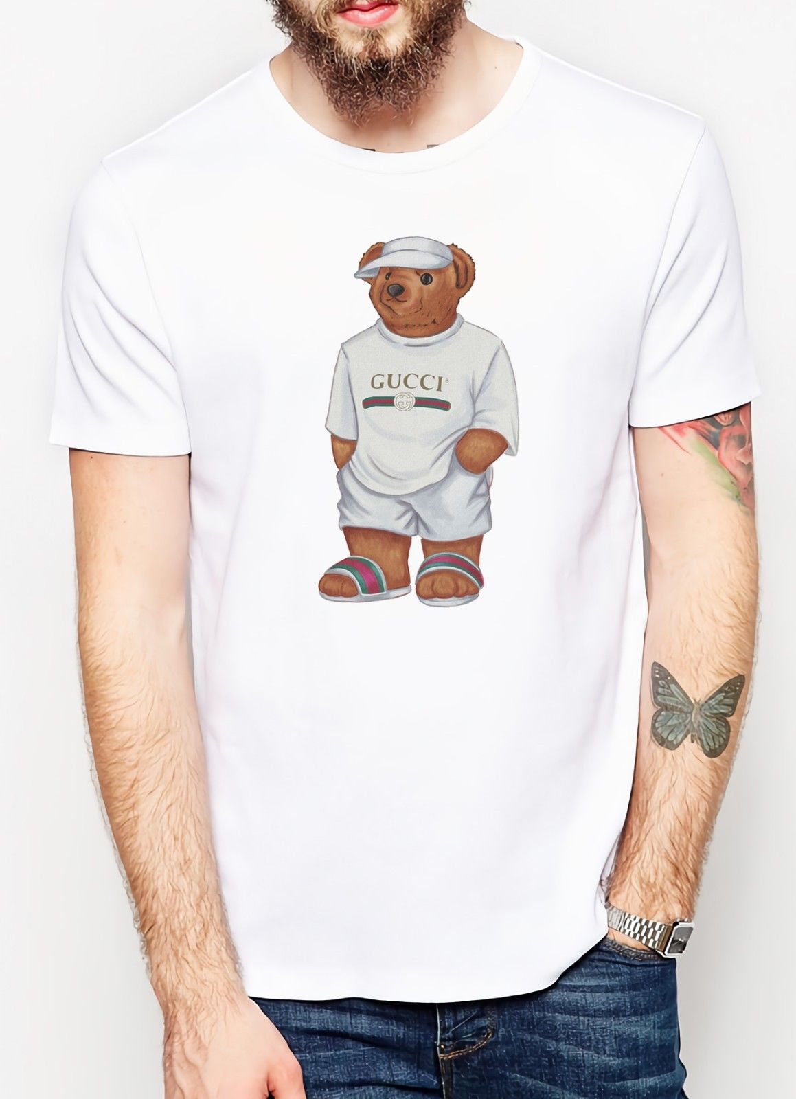 Mike The Bear Life Is T Shirt Men Fashions White Casual Summer TOP Short Sleeve Men Clothes 2019 Animal Print Tee Shirt Homme