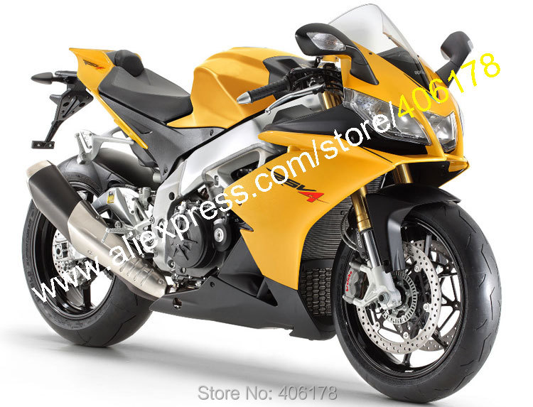 Hot Sales,For Aprilia RSV4 1000 2009 2010 2011 2012 2013 2014 2015 RS V4 09-15 Yellow Black Moto Fairing Kit (Injection molding) mad moto high quality motorcycle chain adjuster with paddock bobbin fit for aprilia rsv4 2009 2010 2012 2013 2014 red black