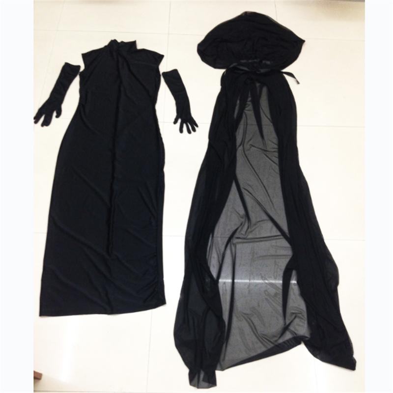 Halloween Plus size Adult black Witch dress Ghost bride Female dress vampire Cosplay Costume Horror Day of the Dead clothing