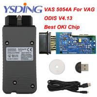 OKI Full Chip VAS 5054A ODIS V4.13 Bluetooth VAS 5054 A Car Diagnostic Tool For VW Seat Skoda For Bentley VAS5054A VAG Scanner