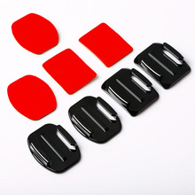Centechia Kit 4Pcs Helmet Accessories Flat Curved Adhesive Mount For Go Hero 1 2 3 Action