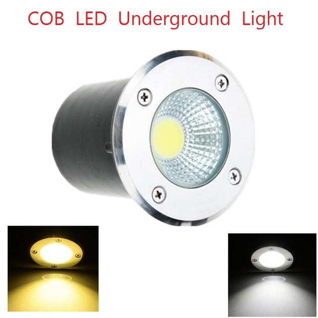 1PCS Free Shipping AC85-265V IP68 5W 10W Warm Cold White Buried Lamp Inground Lighting Outdoor COB LED Underground Lamp Light