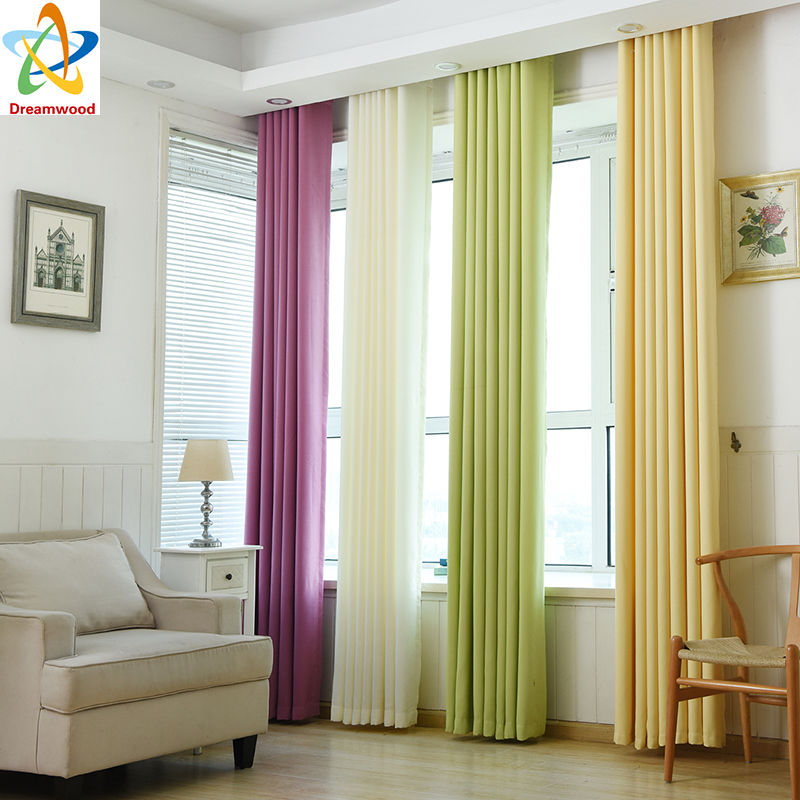 dreamwood high quality thickening imitation linen soild color blackout curtain high shading modern living room curtains l902