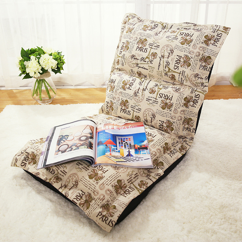 Comfortable lazy sofa single style sofa chair folding sofa bed bedroom living room tatami lazy sofa bean bag with pedal creative single sofa bedroom living room lazy stool tatami