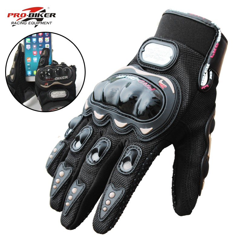 Gloves Guantes Protective-Gear Motos Touch-Screen Riding Tribe Winter Summer Luvas