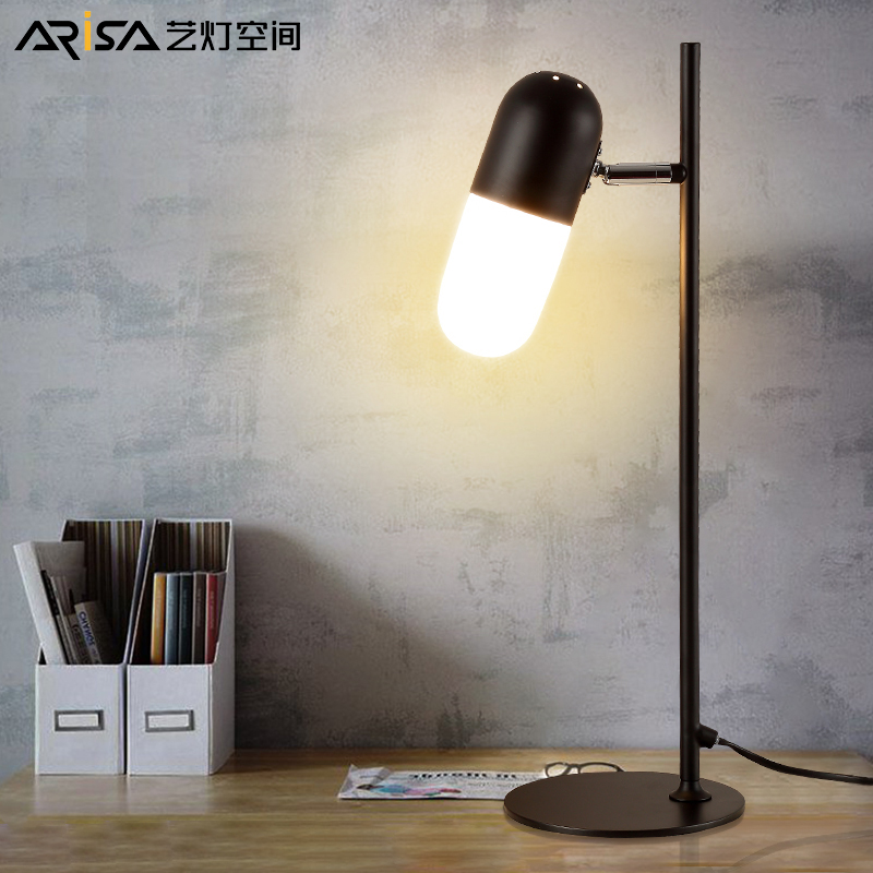 LED Nordic table lamp Modern Novelty Fixture bedroom lamp bed front desk lamps protection eye lamps table Lighting
