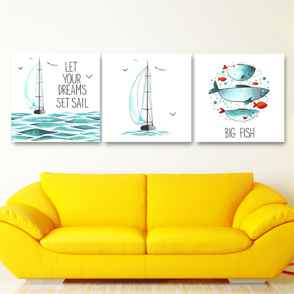 Online Shop Modern Naval Style Canvas Print Painting Poster of ...