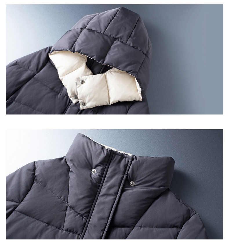 Toyouth женские Зимнее пальто средней длины с капюшоном однобортный кнопки утепленная длинная куртка пальто