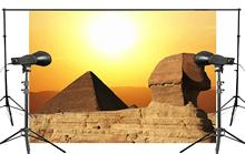 Beautiful Golden Sunny Khufu pyramid Side View Photography Background Photo Studio Backdrop 150x210cm History Wall