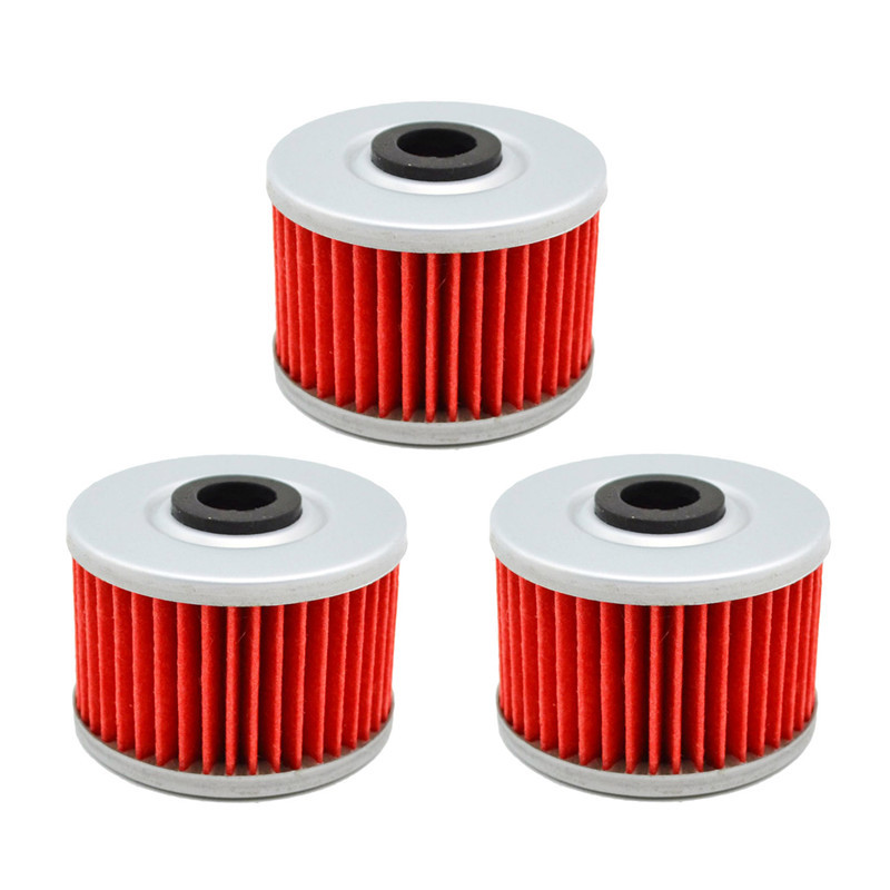 3pcs Motorcycle Oil Filter for <font><b>Honda</b></font> XR350R XR350 R <font><b>XR</b></font> <font><b>350</b></font> R 1983-1987 / XR400R XR400 R 397 2004 / XR440 R SM 440 1996-2004 image