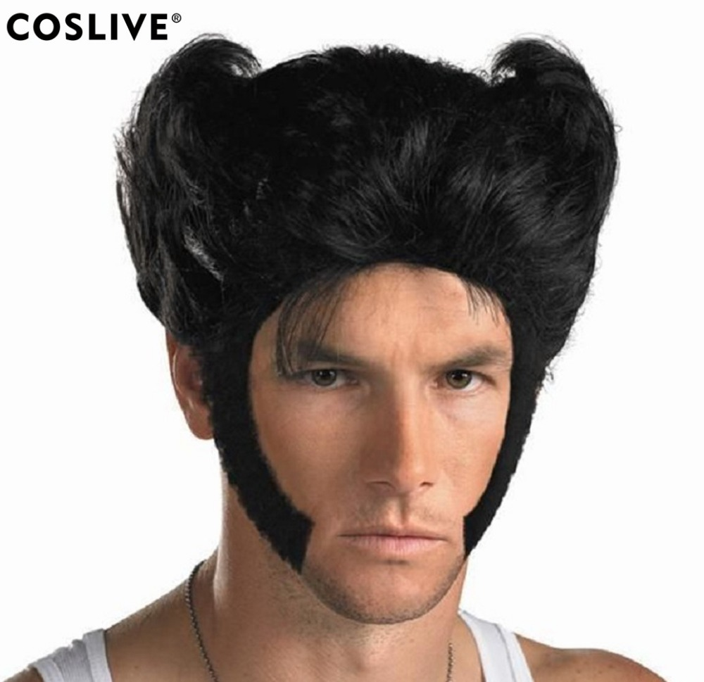 Coslive X-men Cosplay Wig Men Cool Short Hair Synthetic Cosplay Hair Props Halloween Par ...