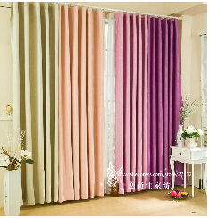 Rustic curtain finished products quality Bay/French Window curtains for living room  thickening sun-shading cloth