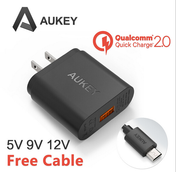 Calitte AUkey Fast Charger 2 0 18W USB Power Charger 5V 9V 12V Wall Fast Charge