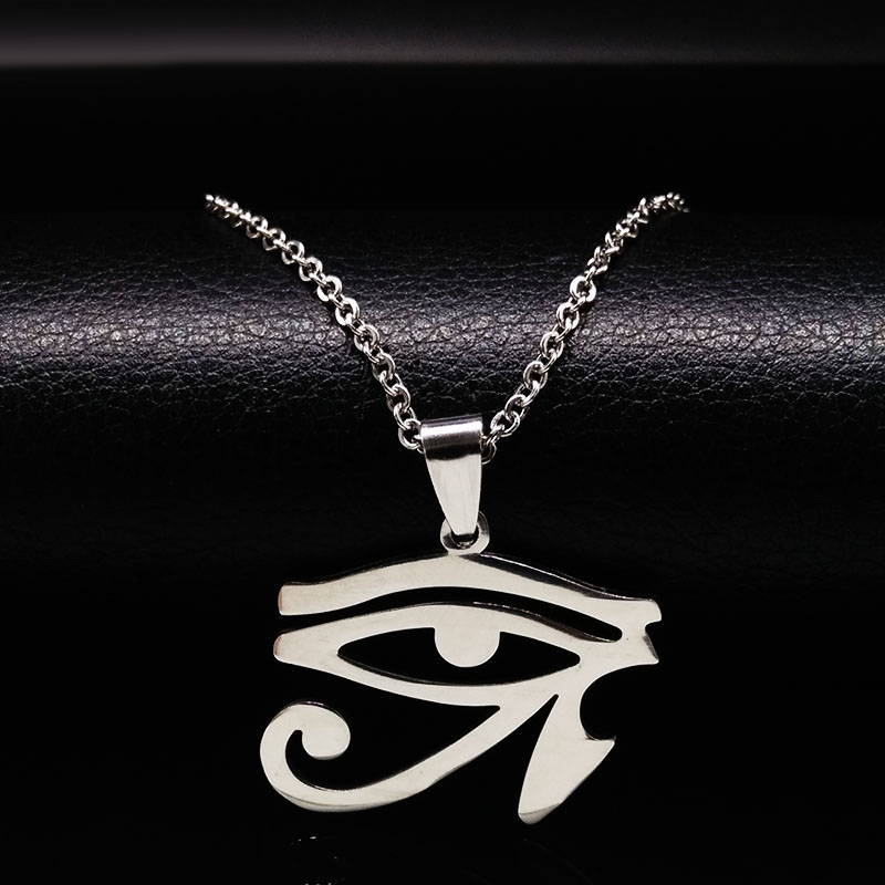 2019 Fashion Silver Color Stainless Steel Necklaces for Women Evil Eye Statement Necklace Jewelry giftacero inoxidable N69282B