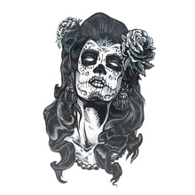 Hot Waterproof Hot Temporary Tattoo Stickers Gangster Rose Tattoo Girl Sexy Cool Beauty Tattoo