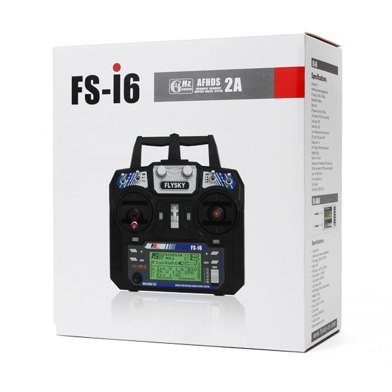 US $42 99 50% OFF|FlySky FS i6 FS i6 2 4G 6CH AFHDS RC Transmitter FS iA6B  iA6 A8S 8CH Receiver For RC Quadcopter Car Helicopter Remote Controller-in