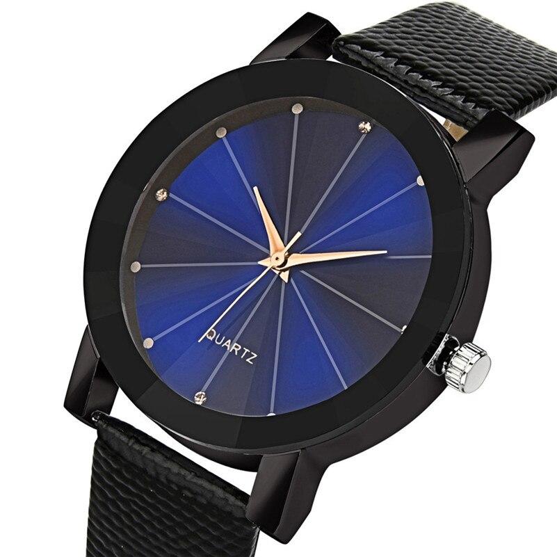 Women Watches Gem Cut Geometry Crystal Leather Quartz Wristwatch Fashion Dress Watch Ladies Gifts Clock Relogio Feminino TO