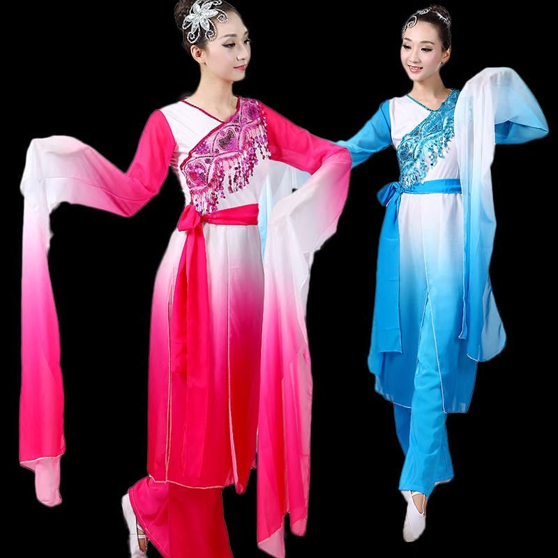 e3ff4b5d8 (0111) woman Chinese Classical dance clothes Hanfu ancient costume fairy  poetic fan/umbrella dance wear Theater performance