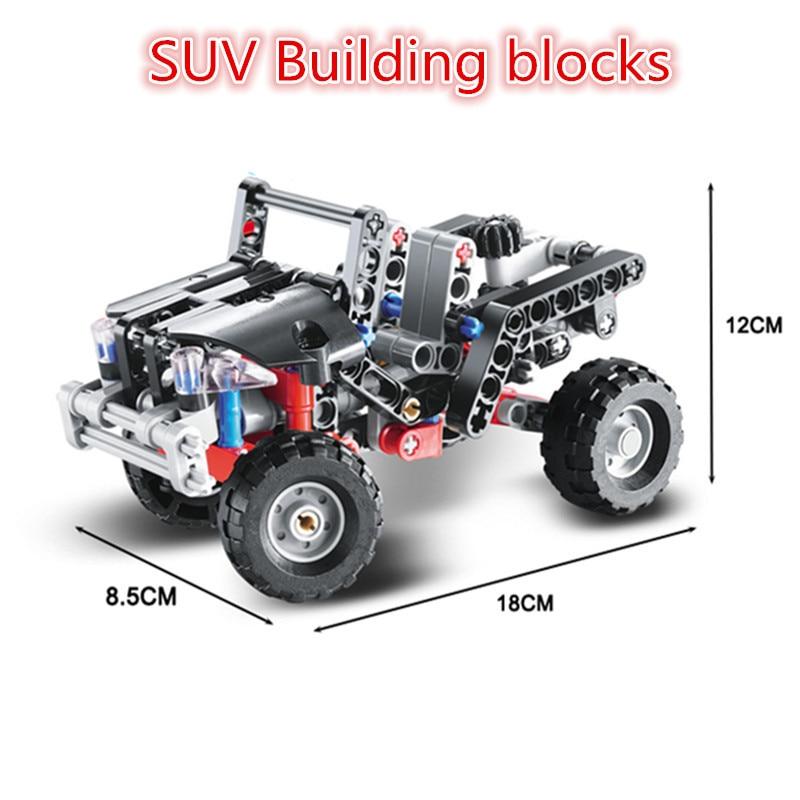 141Pcs Transport Jeep Vanguard SUV Racing Car Building Blocks Cars ...