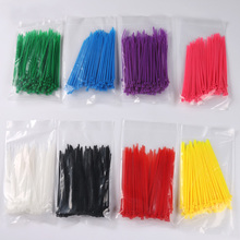 100Pcs/Lot 3*100mm Self-Locking Plastic Cable Zip Loop Ties Nylon for Wires Socks Neat and Orderly With One Color