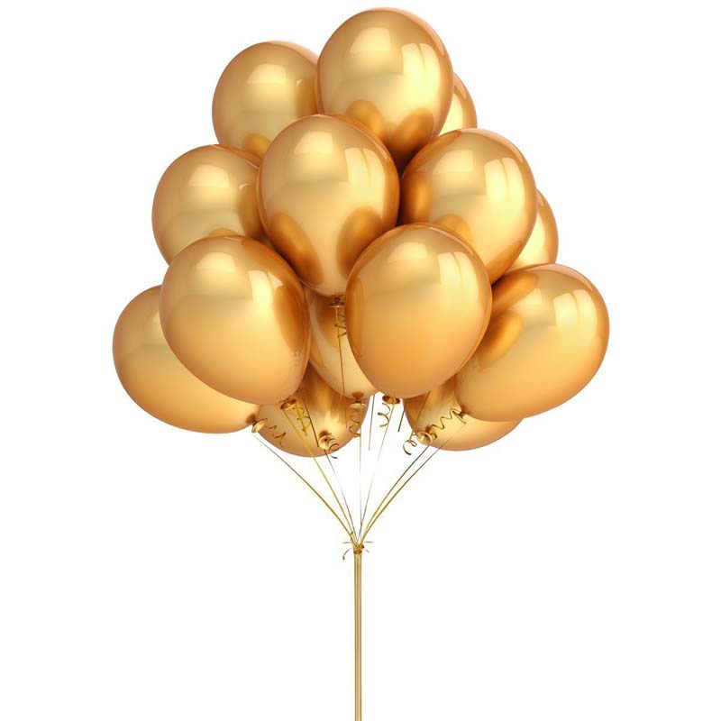 10pcs gold black Latex Balloon for Marriage Birthday Bachelorette Party Bridal Shower christmas Decoration supplies Kids Toy