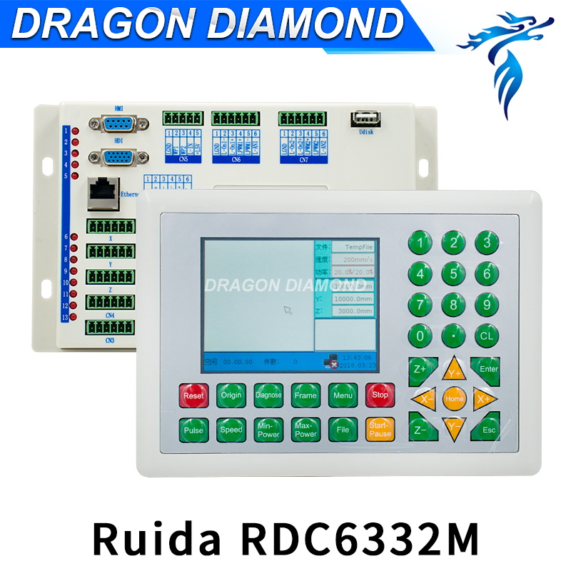 все цены на Ruida RDC6332M CO2 Laser Metal Cut Controller Laser DSP Controller for Laser Engraving Cutting Machine RDC 6332M онлайн