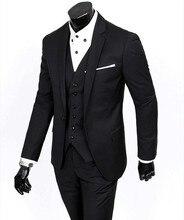 Side Vent Groom Tuxedo Groomsmen 4 Colors Wedding/Dinner/Evening Suits Best Man Bridegroom (Jacket+Pants+Tie+Vest) B17