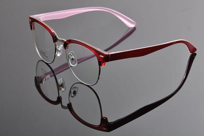 DEDING Винтаж очки с круглыми линзами в стиле унисекс очки ботаника очки в оправе вогнуто-Выпуклое стекло, de vue oculos de grau с чехлом ткань DD0883 - Цвет оправы: red